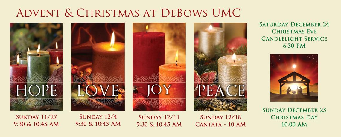 Advent & Christmas at DeBows UMC